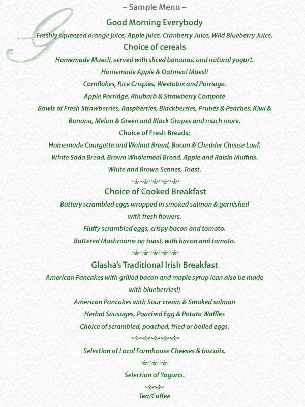 Menu Sample Breakfast Menu Sample Breakfast Menu Sample Free Menu